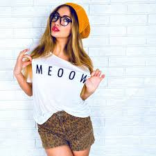 hipster girl stylish hipster girl in glasses and hat stock photo