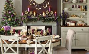 decorations trend indulgent christmas dining room decoration oval