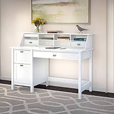white desk with hutch and drawers amazon com broadview pure white desk with drawers and organizer