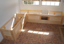 breakfast nook table with bench timely breakfast nook with storage bench built yourself home