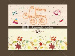 merry website header or banner with ornament
