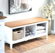 White Bench With Storage White Entryway Bench With Storage Floorganics