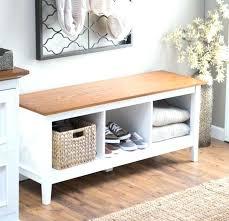 White Bench With Storage White Entryway Bench With Storage Floorganics