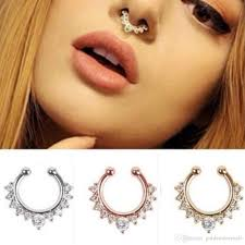 all nose rings images Online cheap new fashion titanium crystal fake nose ring septum jpg