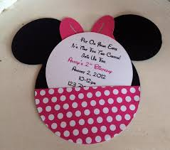 Homemade Birthday Invitation Cards Party Invitations Best Minie Mouse Party Invitations Sample