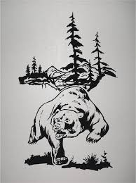 Hunting Home Decor Bear Hunting Wall Decals Mural Home Decor Vinyl Stickers Decorate