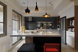 Kitchen Island Contemporary - simple contemporary kitchen accessories ideas with unique pendant