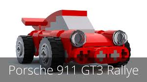 porsche instructions moc small porsche 911 gt3 rallye instructions youtube