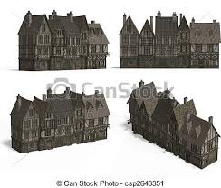 old fashioned house row of medieval houses four views of an old fashioned house