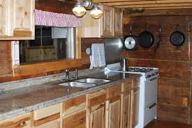 Lowes Kitchen Cabinets Hickory Cabin Style ExploreBuildDo - Cabin kitchen cabinets