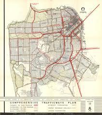 San Francisco Street Parking Map by 1948 Sf Comprehensive Transportation Plan Market Street From