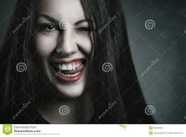 evil expression on vampire face stock photo image 45084692