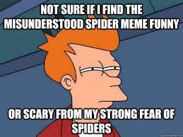 Spider Meme Misunderstood Spider Meme - not sure if i find the misunderstood spider meme funny or scary from