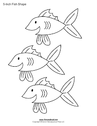printable fish templates for kids preschool shapes romantic