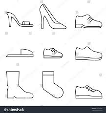 type shoes collection icon womens shoes stock vector 697192888