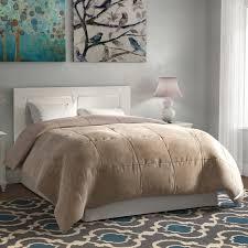 home design alternative comforter charlton home broncho flannel microfiber goose alternative