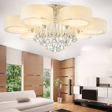 Chandeliers For Living Room Modern 60 70 90cm Crystal Led Chandeliers Ceiling Lights Living
