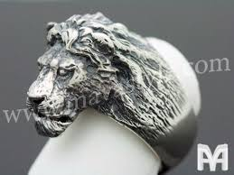 silver lion statue custom made sterling silver lion king animal ring by mava style