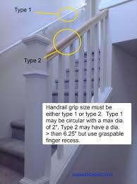 building code requirement for handrail grip size inspect2code