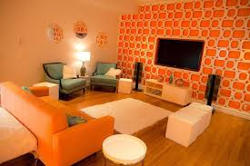 orange livingroom orange interior design living room color scheme