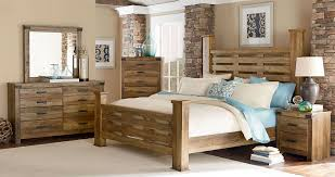 king poster bedroom set standard furniture montana rustic buckskin poster bedroom set