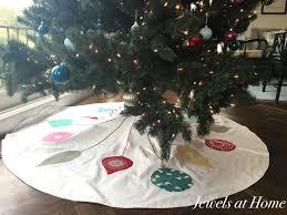 retro mid century ornaments tree skirt jewels at home