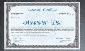 psd certificate template modern classy diploma award certificate