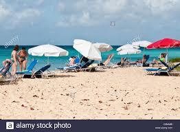 Beach Sun Umbrella Beach Umbrellas Chairs People Sunning Sun Tanning Brighton Beach