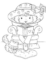 original strawberry shortcake coloring page getcoloringpages com