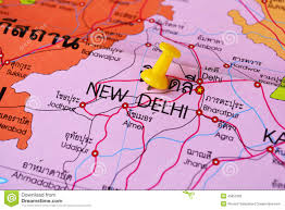 New Delhi India Map by New Delhi Map Stock Photo Image 45852369