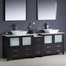 Bathroom Vanities With Vessel Sinks Superb Designs Using Double Bathroom Vanity With Vessel Sinks