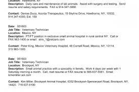 Veterinary Resume Examples by Veterinary Technician Resume Examples Veterinary Technician