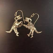 t rex earrings s collections jewelry rawr trex earrings poshmark