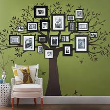 family tree wall decal tree wall decal for picture frames chestnut brown family tree decal