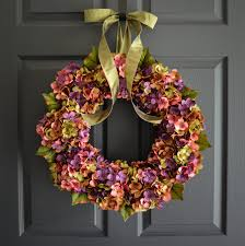spring wreaths for front door beautiful wreaths blended hydrangea wreath spring wreaths