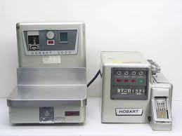 hobart 3000s and 3000l scale and labeler system vintage