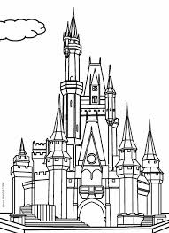 Printable Castle Coloring Pages For Kids Cool2bkids Disney World Coloring Pages