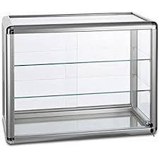 glass counter display cabinet displaysense silver glass counter top display cabinet display case