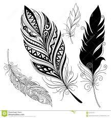 vector peerless decorative feather stock vector image 53104749