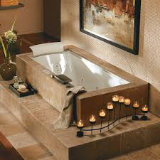 bathtubs idea interesting undermount whirlpool tubs undermount stunning undermount whirlpool tubs jacuzzi style with candles and towels and tray and