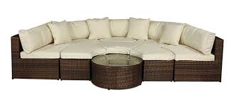 Wicker Sofa Bed by Monaco Round Sofa Set Outdoor Rattan Garden Furniture With Coffee