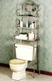 Bathroom Storage Chrome Toilet Shelf Chic Chrome Iron Three Level Toilet Bathroom