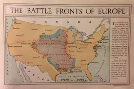 Continental Us Map The Battle Fronts Of Europe Projected Onto The Us Earthly Mission