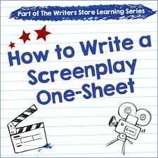 how to write a screenplay one sheet