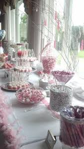 Pink And White Candy Buffet by Pink And Orange Candy Station Specialty Tables At Aldea
