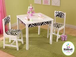 Zebra Dining Room Chairs by Kidkraft Zebra Black U0026 White Funky Table Chair Set Zebra Kids