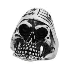 Black American Flag Bandana Wholesale Biker Skull Rings Silver City La
