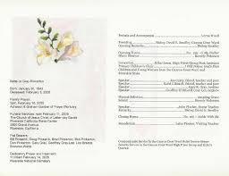 memorial service programs exles of funeral programs