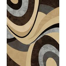 Home Dynamix Area Rug Home Dynamix Tribeca Brown 5 Ft 2 In X 7 Ft 2 In Indoor
