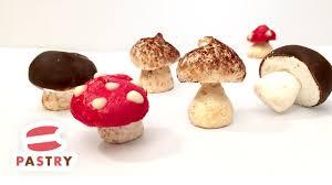 chocolate u0026 meringue mushroom for christmas cake or dessert easy